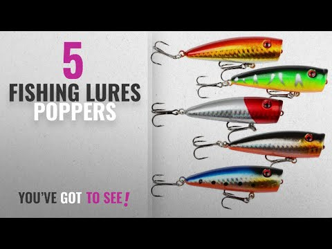 Top 10 Fishing Lures Poppers [2018]: A-SZCXTOP Lot 5pcs 9g 7cm Fishing Topwater Floating Popper