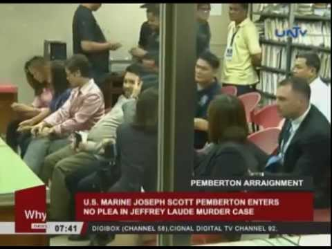 US Marine Joseph Pemberton enters no plea in Jeffrey Laude murder case