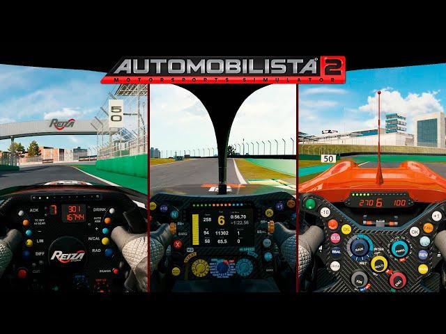 Automobilista 2 - a lap of Interlagos with 3 engines (V10, V8 and V6)