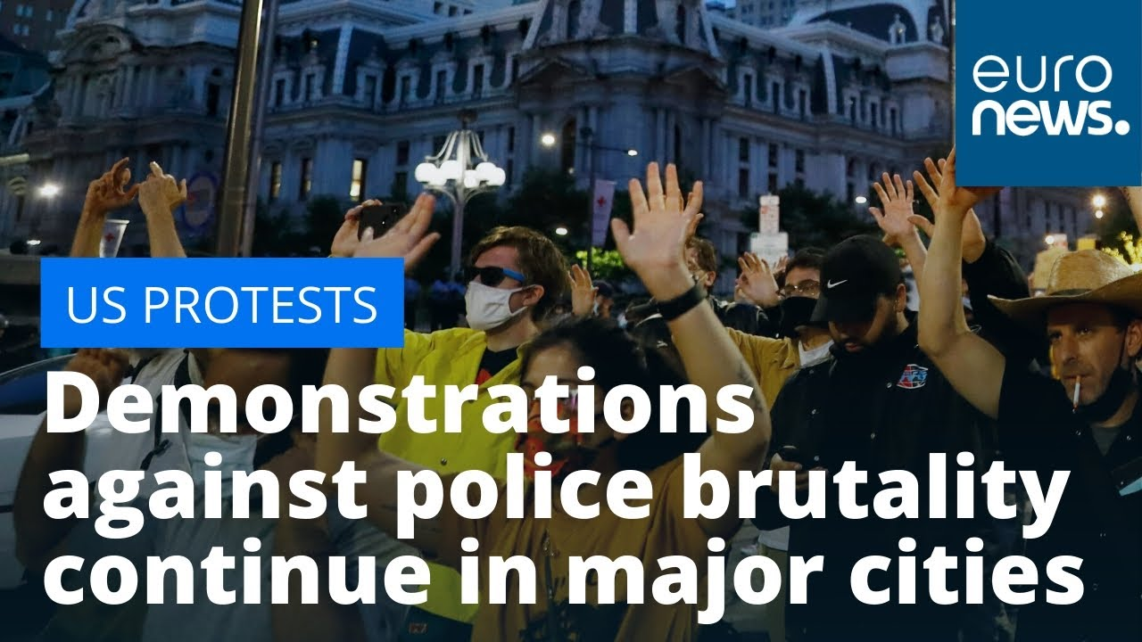 US protesters defy curfew: Demonstrations against police brutality continue in major cities thumbnail