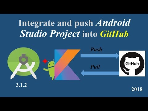 How to Integrate and push Android Studio project to GitHub