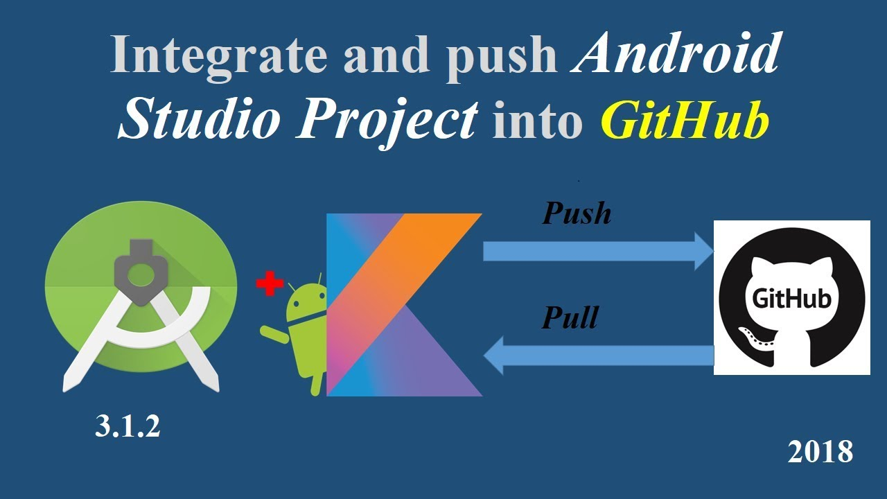 How to Integrate and push Android Studio project to GitHub Repository 2018