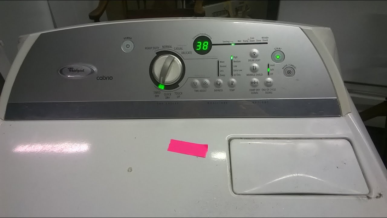 diy whirlpool cabrio cloths dryer f1 control board error code fix rh youtube com Whirlpool Cabrio Set whirlpool duet washer and dryer troubleshooting