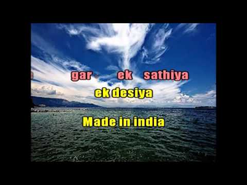 MADE IN INDIA KARAOKE ORIGINAL QUALITYAlisha chinai