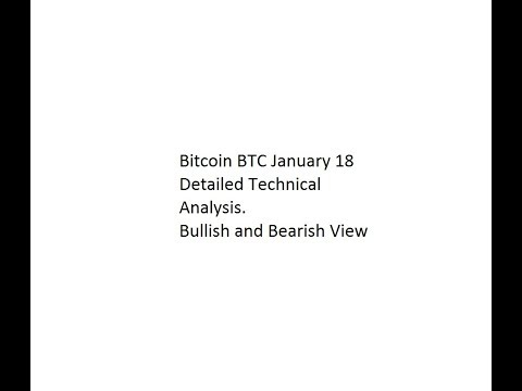 Bitcoin BTC January 18 Detailed Technical Analysis. Bullish and Bearish View