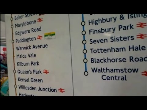 OXFORD CIRCUS TO WALTHAMSTOW CENTRAL BY TUBE LONDON