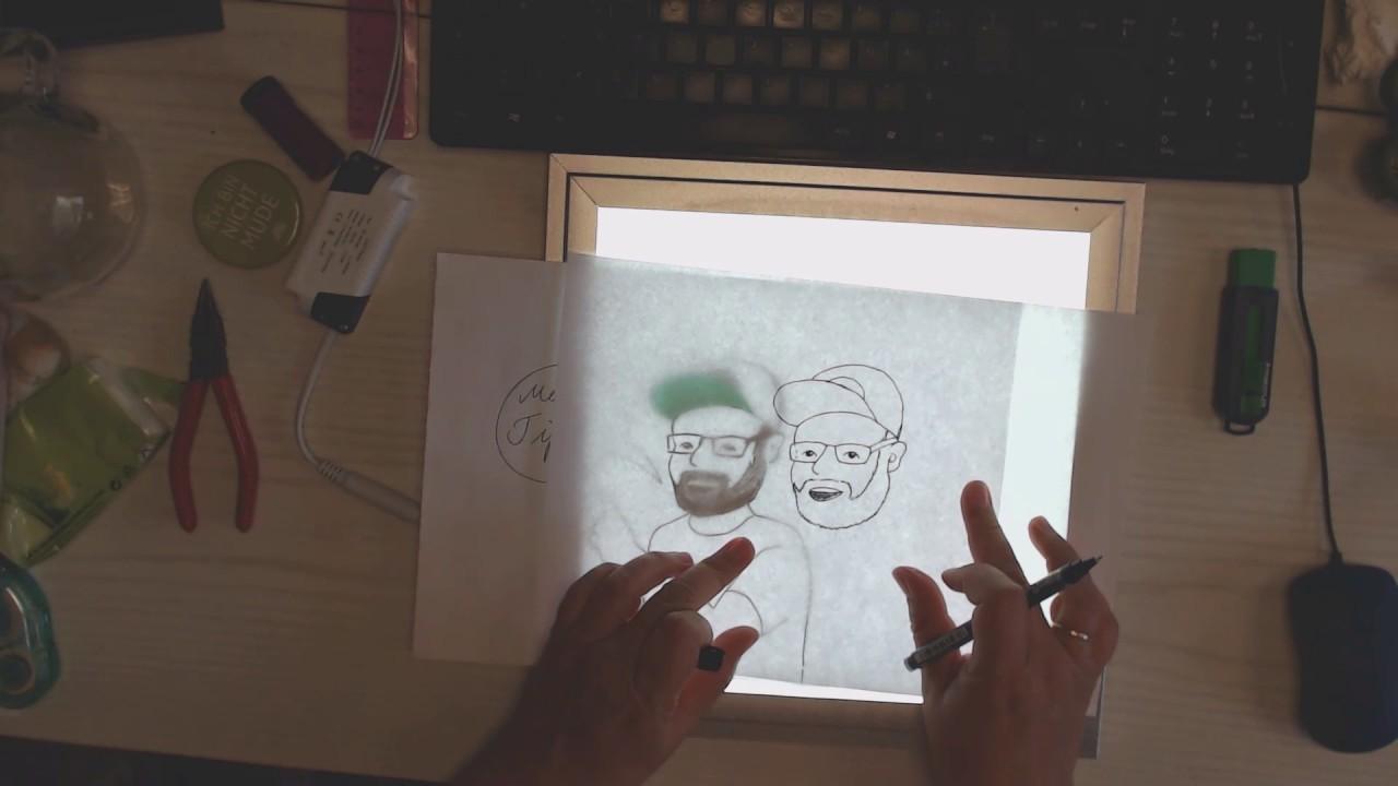 Zeichnen Lernen Vorzeichnung Abpausen Leuchttisch Mit Tipps