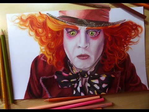 how to draw the mad hatter step by step
