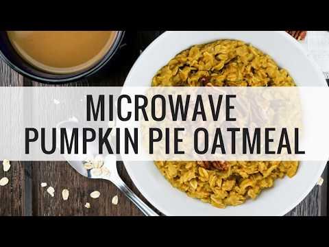 Microwave Pumpkin Pie Oatmeal
