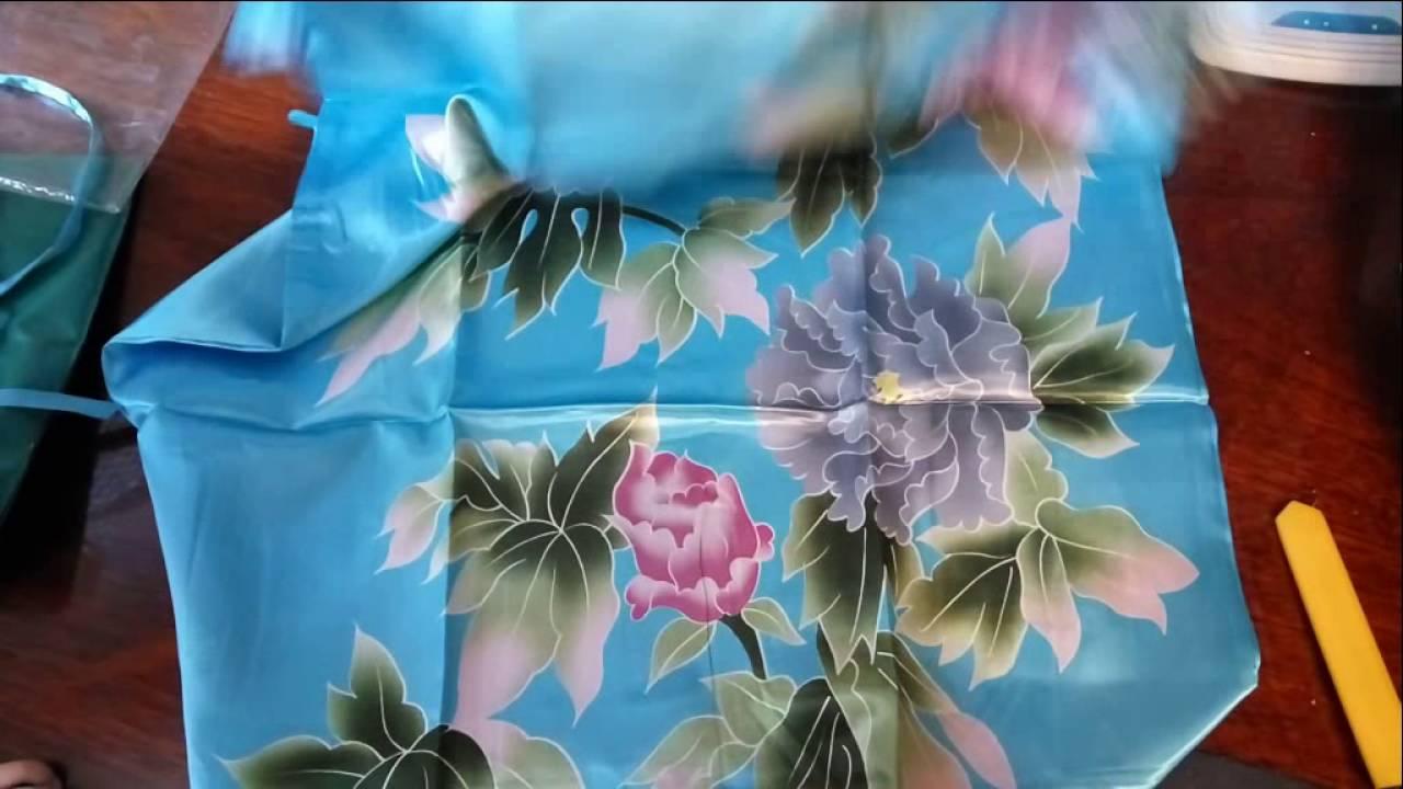 DIY | Шьём шёлковый халат | Sew silk kimono + Как обработать края .