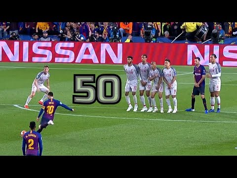 Lionel Messi ● All 50 Free Kick Goals ● With Commentaries