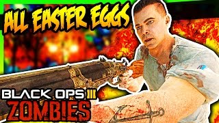 ALL BLACK OPS 3 EASTER EGGS w/ ZHouse!!! (TEAM FULL WEEB!!)