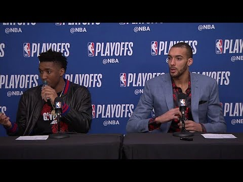 Donovan Mitchell & Rudy Gobert Postgame Interview | Thunder vs Jazz - Game 3 | 2018 NBA Playoffs