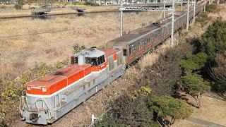 【甲種輸送】 DE11-2004+東急3000系 6両 東高島~桜木町通過