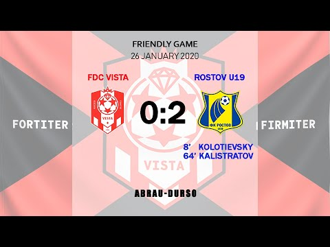 FDC Vista - Rostov U19 - 0:2 Full Game
