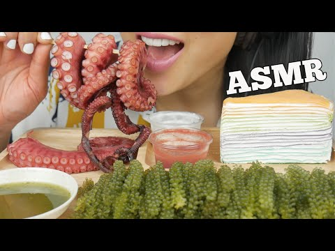 Asmr Crepe Cake Seagrapes Octopus Eating Sounds No Talking Sas Asmr Youtube Handmade crepe cake mukbang asmr real sound suna asmr. asmr crepe cake seagrapes octopus eating sounds no talking sas asmr