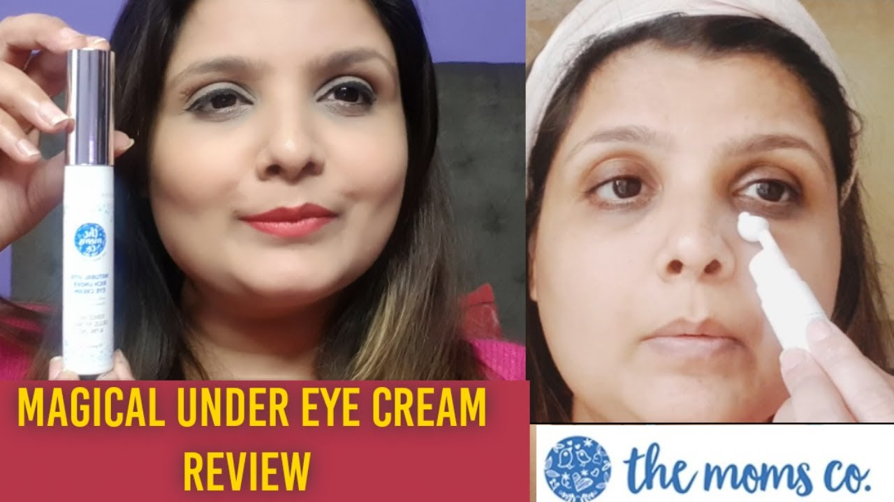 Moms Co Under Eye Cream Honest Review Most Effective Cream For Dark Circles Puffiness Fine Lines Youtube