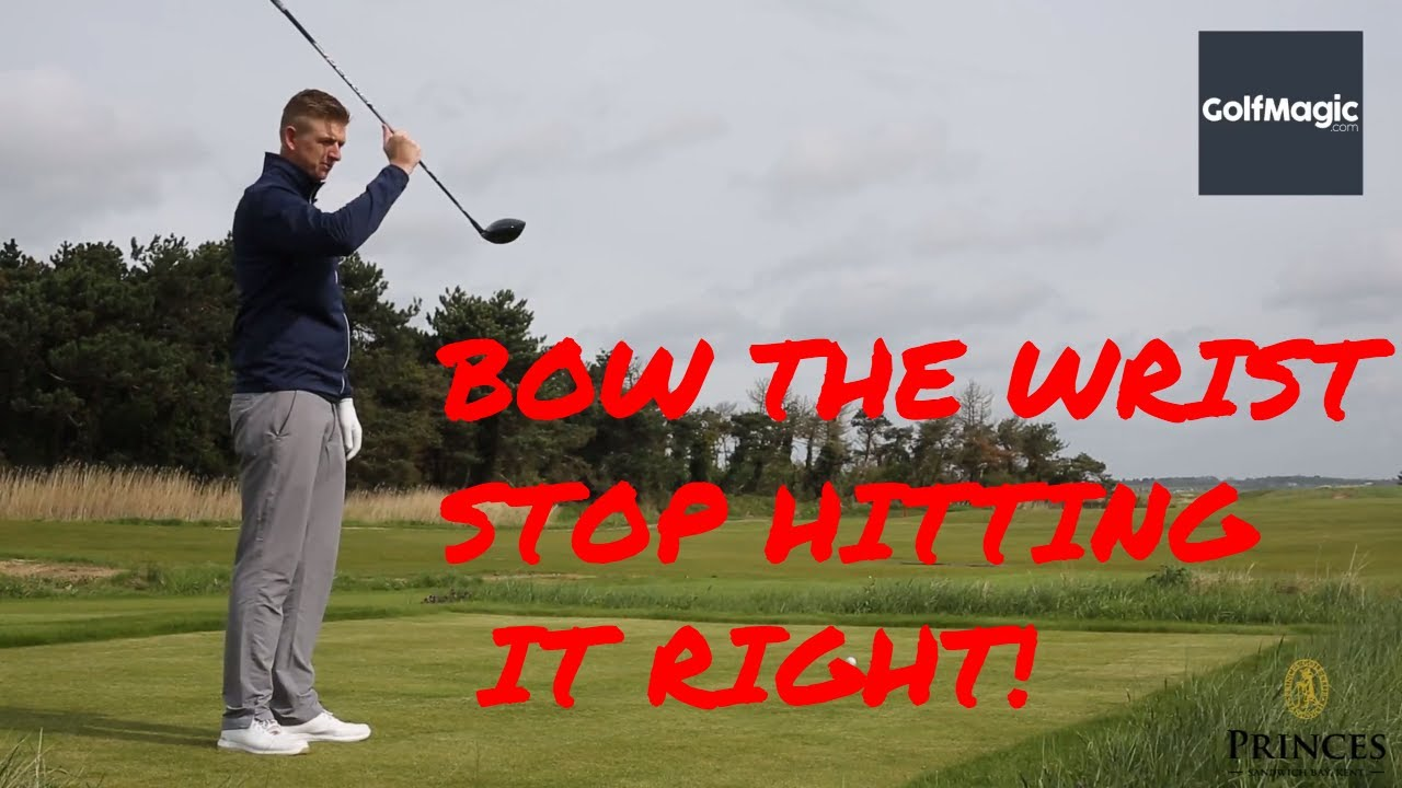 How to bow the wrist to close the clubface - and stop hitting it right!