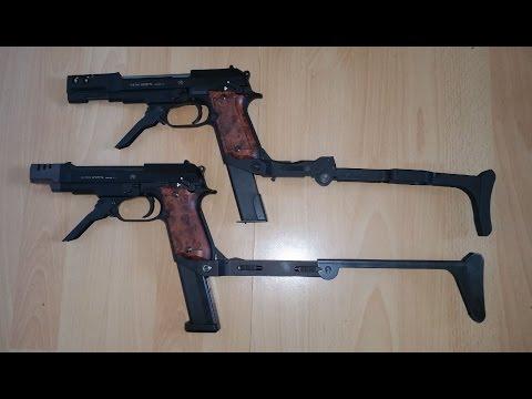 Umarex Beretta 93R / KWA Beretta M93 GBB + Anschlagschaft Review + Test
