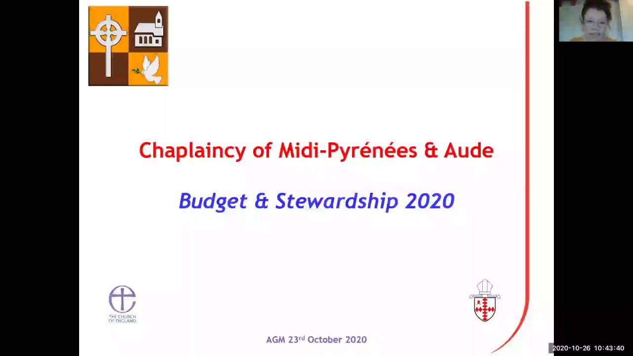 Treasurer's 2020 Budget Presentation