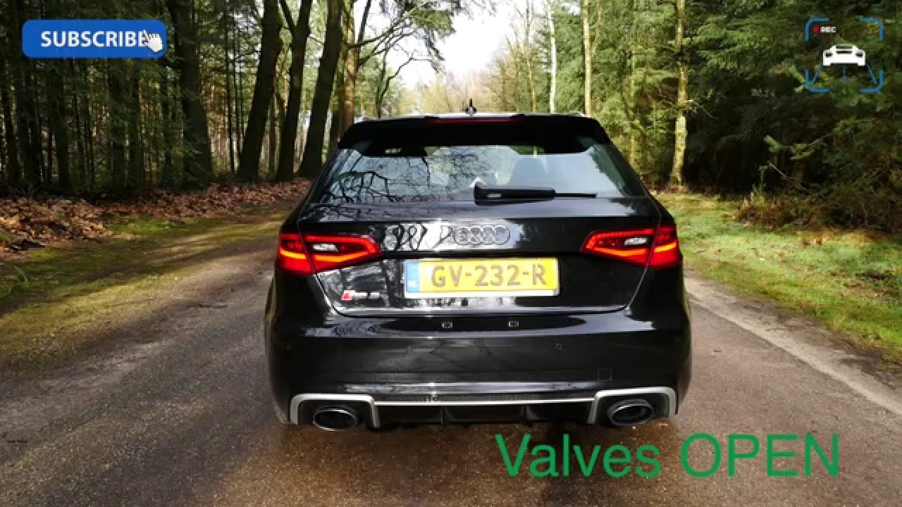 2016 Audi RS3 SPORT EXHAUST Startup & Revs LOUD! Exhaust Sound