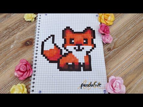 Dessin Pixel Art Animaux Renard