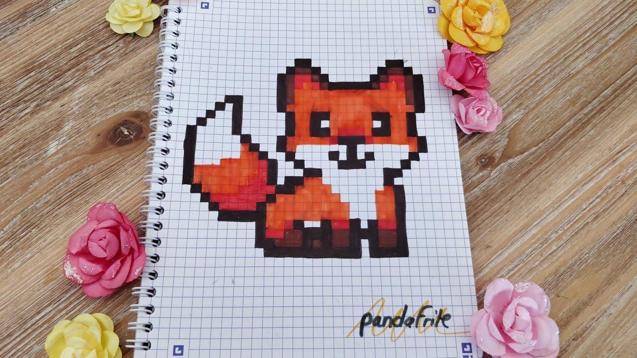 Pixel Art Renard Avec Une Surprise