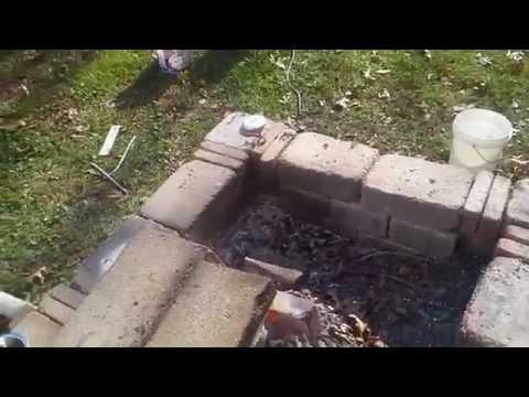 Homemade forge, Melting aluminum, making bismuth crystals