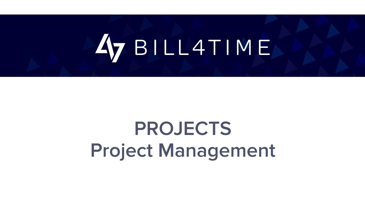 BIll4Time: Project Management