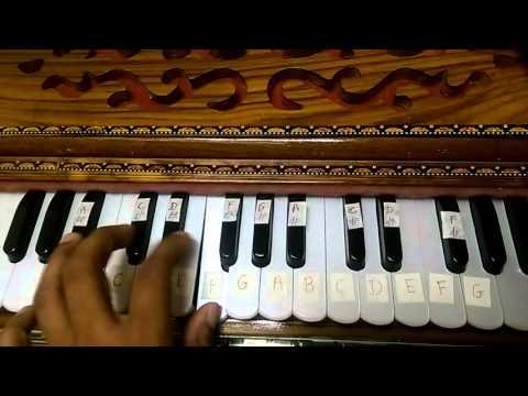Main jaha rahu with Notes on Harmonium - YouTube