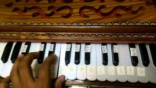 Main jaha rahu with Notes on Harmonium