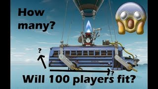 How Many Players can *ACTUALLY* fit in the battle bus in Fortnite: Battle Royale?