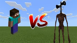 Siren Head vs Herobrine + More - Minecraft