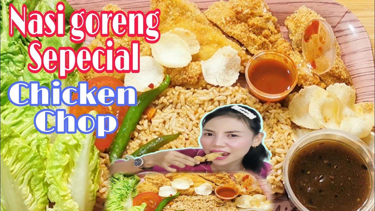 Download NASI GORENG SEPECIAL CHICKEN CHOP TERSEDAP || ASMR || MUKBANG