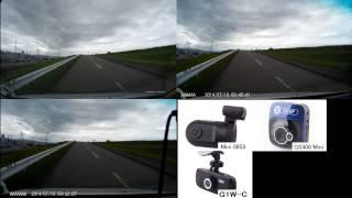 Mini 0803 GS408 G1W-C ドライブレコーダー比較 Car DVR comparison