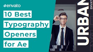 10 Best Typography Opener Templates For After Effects  2020