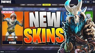 "*NEW* How To UNLOCK ""Chomp SR"" SKIN In Fortnite! The NEW FORTNITE SKINS! Fortnite NEW SEASON 5 SKINS"