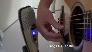 cad u37 usb microphone unboxing and test