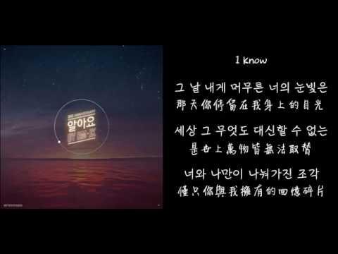 【韓中字】 BTS (RM & JK) - 알아요 我都懂 (2016) Lyrics with Hangul