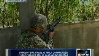 Saksi: Umano'y balwarte ni MNLF Commander Ustadz Habier Malik, inatake ng militar