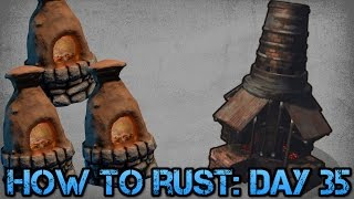 How To Rust: Day 35! | Building Exterior Furnace Rooms!