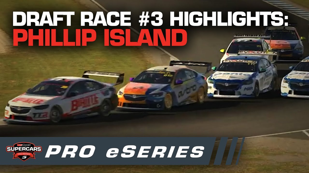 Highlights: Draft Race #3 Phillip Island - Repco Pro eSeries | Supercars Pro eSeries 2020