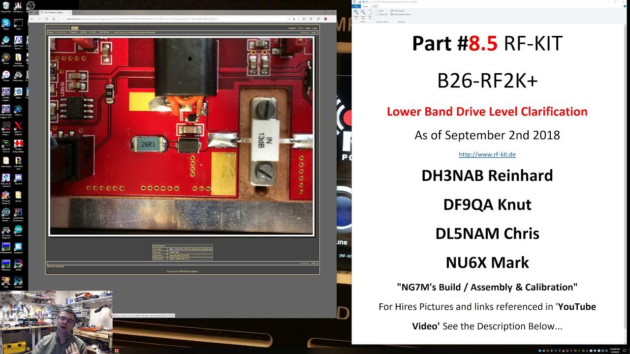 Part #8 5 B26-RF2K+ RF-KIT Low Band Drive Clarification / Demo