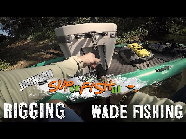 Rigging a SUPerFISHal paddleboard and then wade fishing a small creek in Alabama
