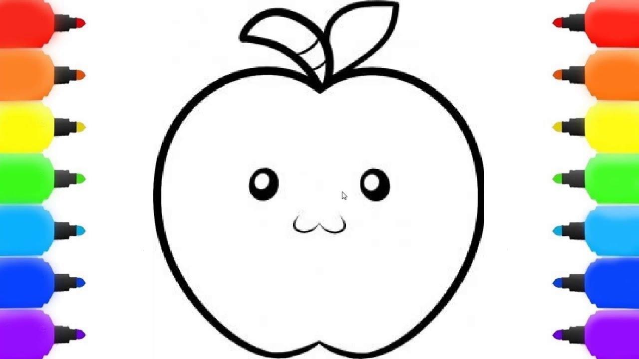 رسم سهل طريقة رسم تفاحة 14
