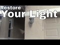How To Restore Refinish Paint Outdoor Sconce Coach Lights