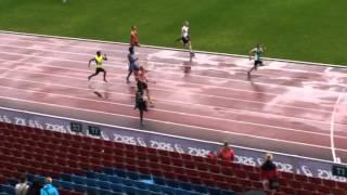 Viktor Elvung Nilsson 100 m försök VUspelen 2014