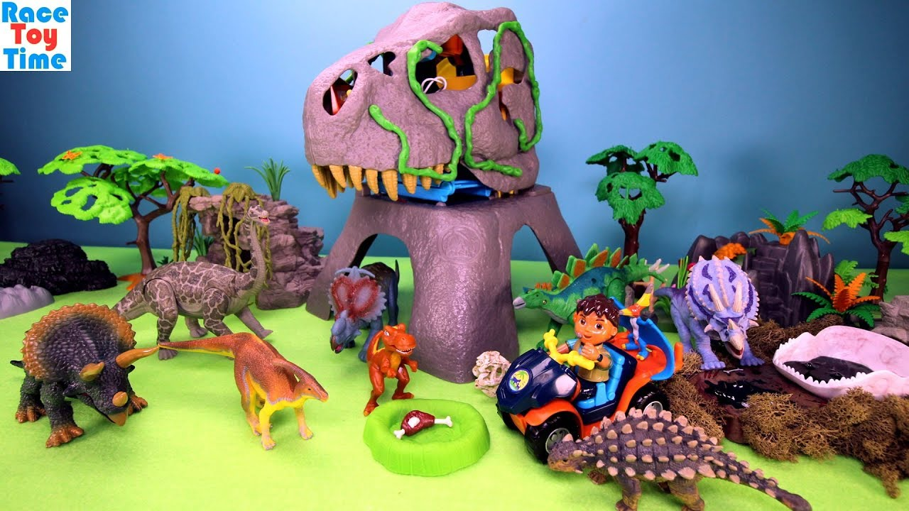 Dinosaur Rescue Mountain Playset Fun Dinosaurs Toys For