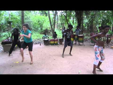 Lian in Togo dancing