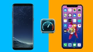 iPhone X vs Samsung S8 Internet Speed Test!